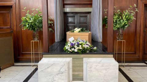 Coffin before cremation - Chelsea Funeral Directors